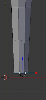 Scaling leg end inwards.