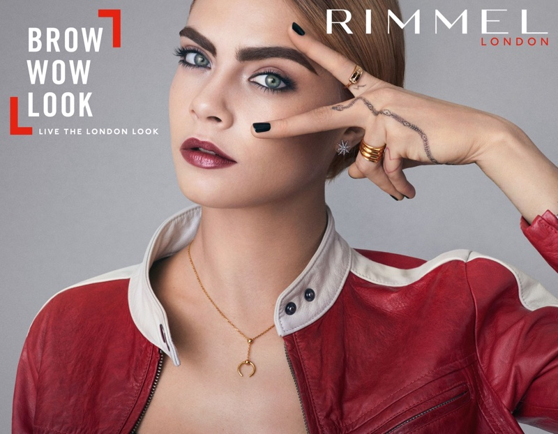 Cara Delevingne Has the London Look for New Rimmel Campaign