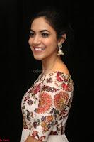 Ritu Varma smiling face Cream Anarkali dress at launch of OPPO New Selfie Camera F3 ~  Exclusive 015.JPG