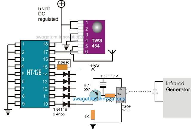 Remote Infrared Wireless Transmitter Alarm