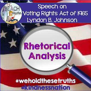 TpT freebie, rhetorical analysis