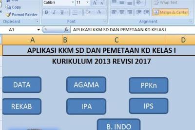 Aplikasi Kkm Sd K13 Revisi 2017 Dan Pemetaan Kd Wahana