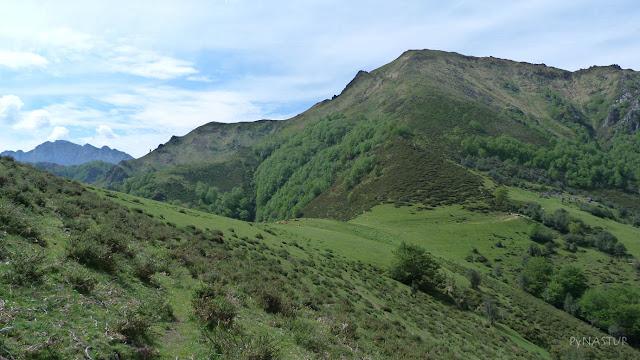 Collao Traslafuente con el Pico Maoño - Piloña y Parque Natural de Ponga