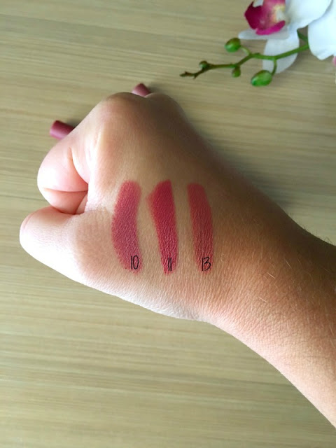 Golden Rose Matte Lipstick Crayon Swatches