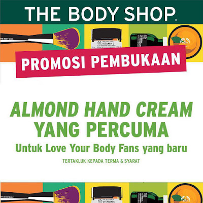 The Body Shop Malaysia Free Almond Hand Cream