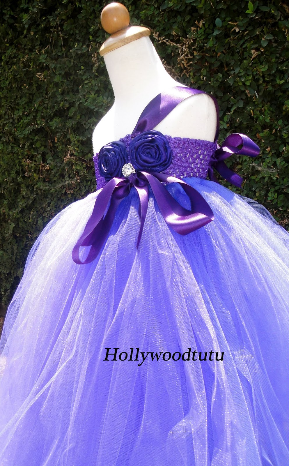 Hollywoodtutu dresses: Purple flower girl tutu dress