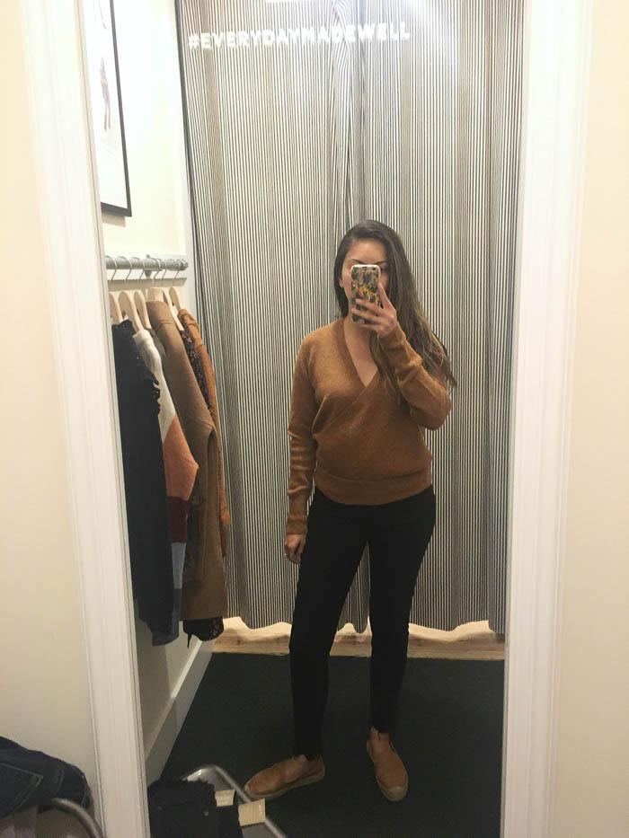 best black button front jeans