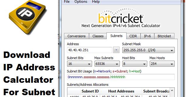 Download Aplikasi IP Address Calculator Subneting Britcket