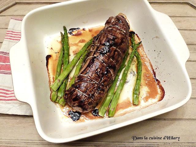 Filet mignon farci aux asperges vertes et pancetta