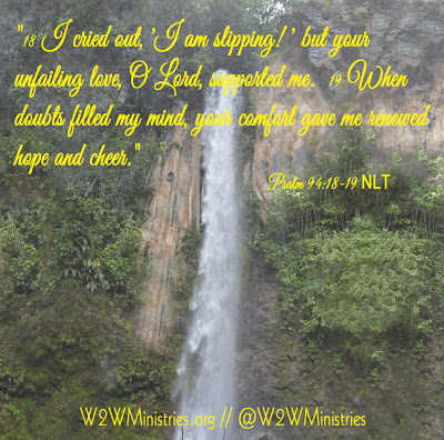 There are times in all of our lives when we feel we are slipping into the abyss. Don't let the enemy get a foothold!