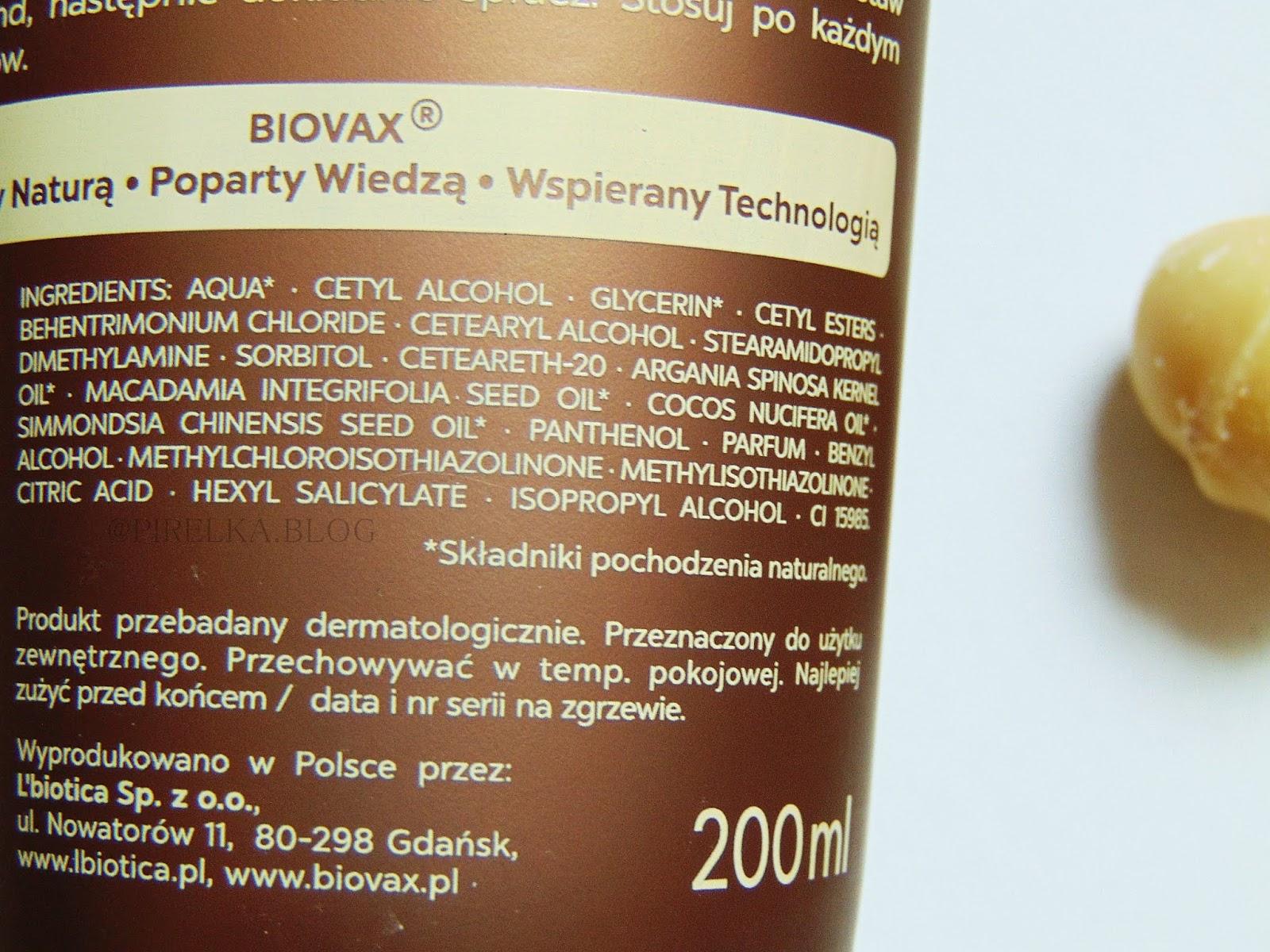 L'biotica, Odżywka ekspresowa 7w1 Biovax| Argan, Kokos, Makadamia