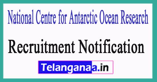 National Centre for Antarctic Ocean Research NCAOR Recruitment Notification