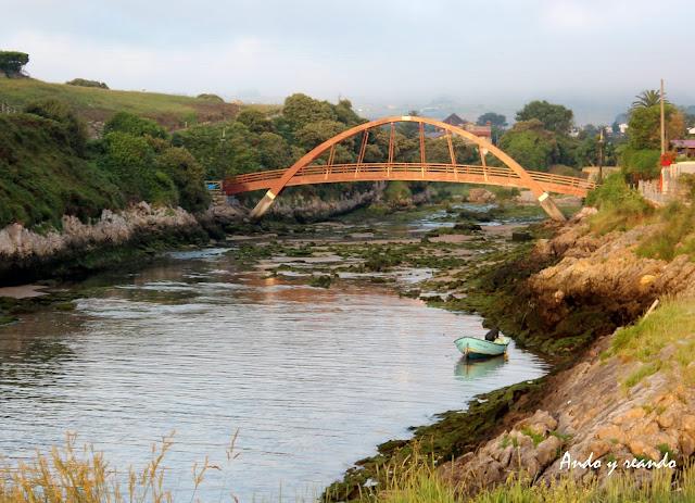 Puente de San Juan de la Canal. Arroyo de Palancate en Soto de la Marina.Costa Quebrada. Cantabria
