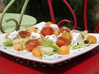 Salade d'été au melon