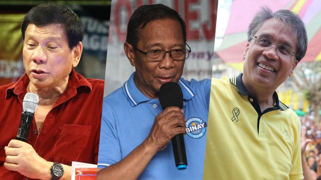 Duterte fires back: Binay 'berdugo ng pera ng tao', Roxas 'bakla'