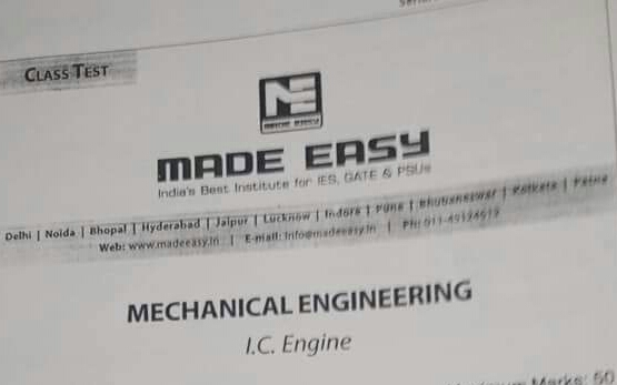 MECHANICAL TEST SERIES PAPER ESE 2019 [IC ENGINE]