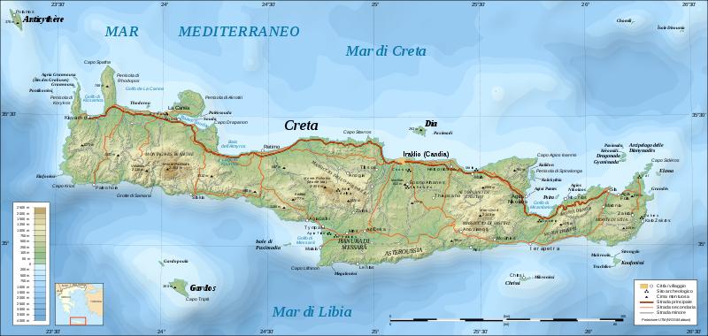 Cartina Creta.Snaps Of Travels Creta 2010