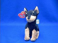 TY Dobie Beanie Baby Doberman Pinscher Plush Stuffed Animal
