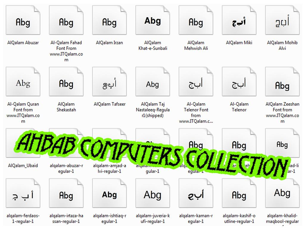 Urdu Fonts Collection Free Download, latest fonts download, ~ Ahbab