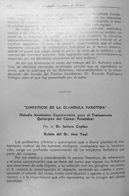 Cuadernos de Anatomía Quirúrgica: Linfáticos de la Glándula Parótida.