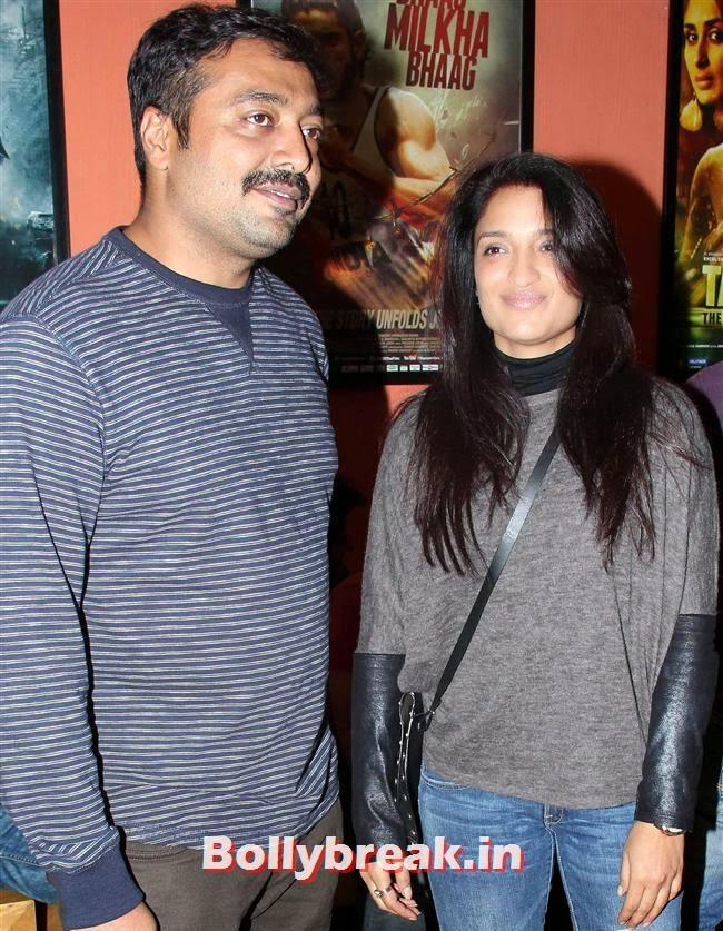 Anurag Kashyap and  Sandhya Mridul, Huma Qureshi Anurag Kashyap at American Hustle Special Screening