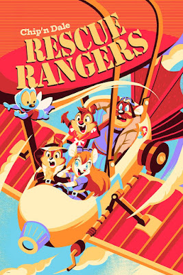 Chip 'n Dale Rescue Rangers Screen Print by Hackto Oshiro x Cyclops Print Works