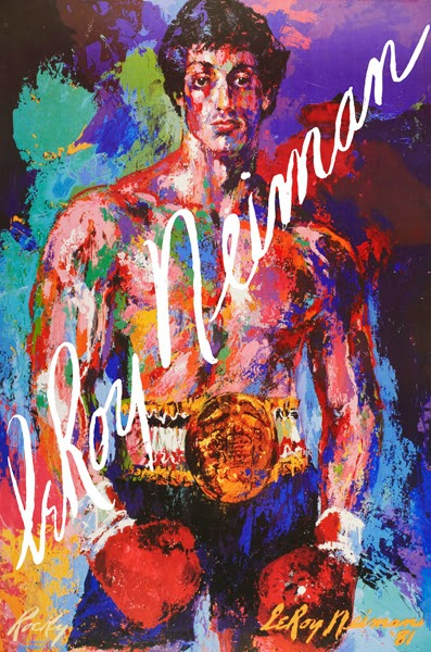 leroy neiman sport paintings rocky