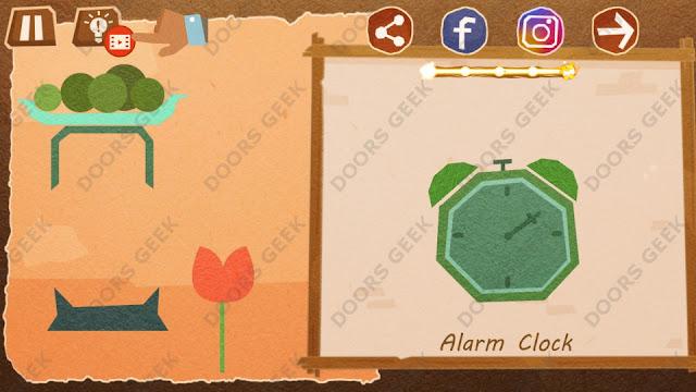 Chigiri: Paper Puzzle Novice Level 27 (Alarm Clock) Solution, Walkthrough, Cheats