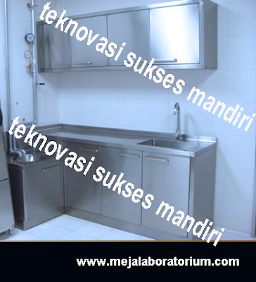meja laboratorium staninless steel