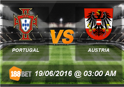 Portugal vs Austria 19 Juni 2016