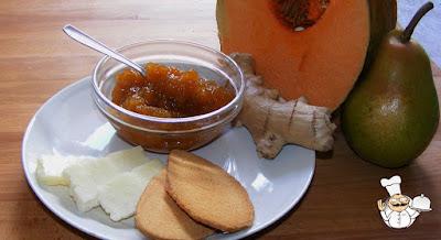 Confettura di zucca con pera e zenzero.