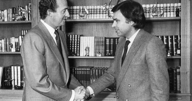 Juan Carlos y Felipe González