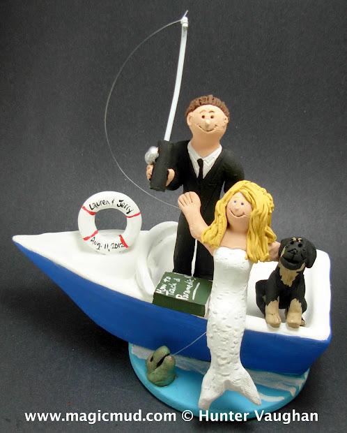 Custom Wedding Cake Toppers Mermaid Bride Topper