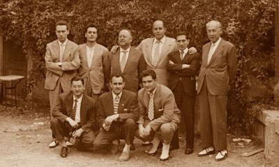 Participantes en el torneo por eliminatorias y en el match Lillet-Comarca, La Pobla de Lillet, 1959
