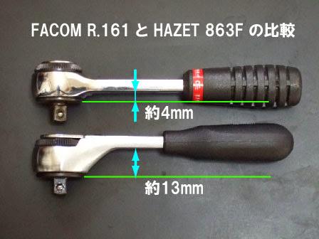 ハゼット863FとファコムR.161ラチェットレンチ比較