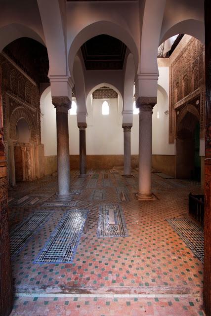 Una de las salas de las Tumbas Saadíes