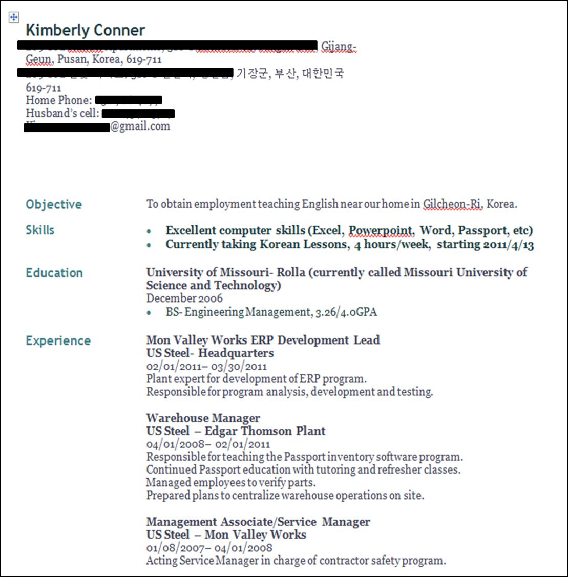 Help Me Make My Resume
