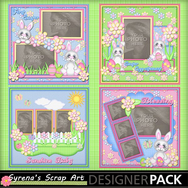 babies first Easter digital scrapbook kit