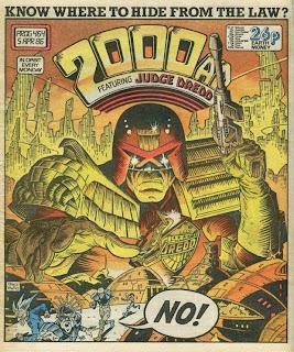 Judge Dredd 2000ad comic book