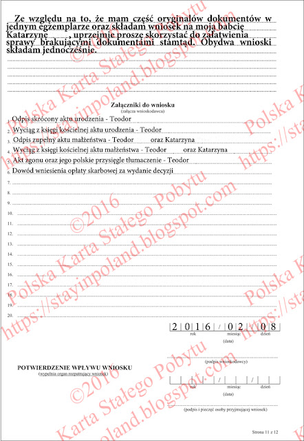 Wniosek o potwierdzenie posiadania obywatelstwa polskiego (s.11)