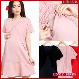 MOM033D13 Dress Hamil Menyusui Victoria Brokat Dresshamil Ibu Hamil