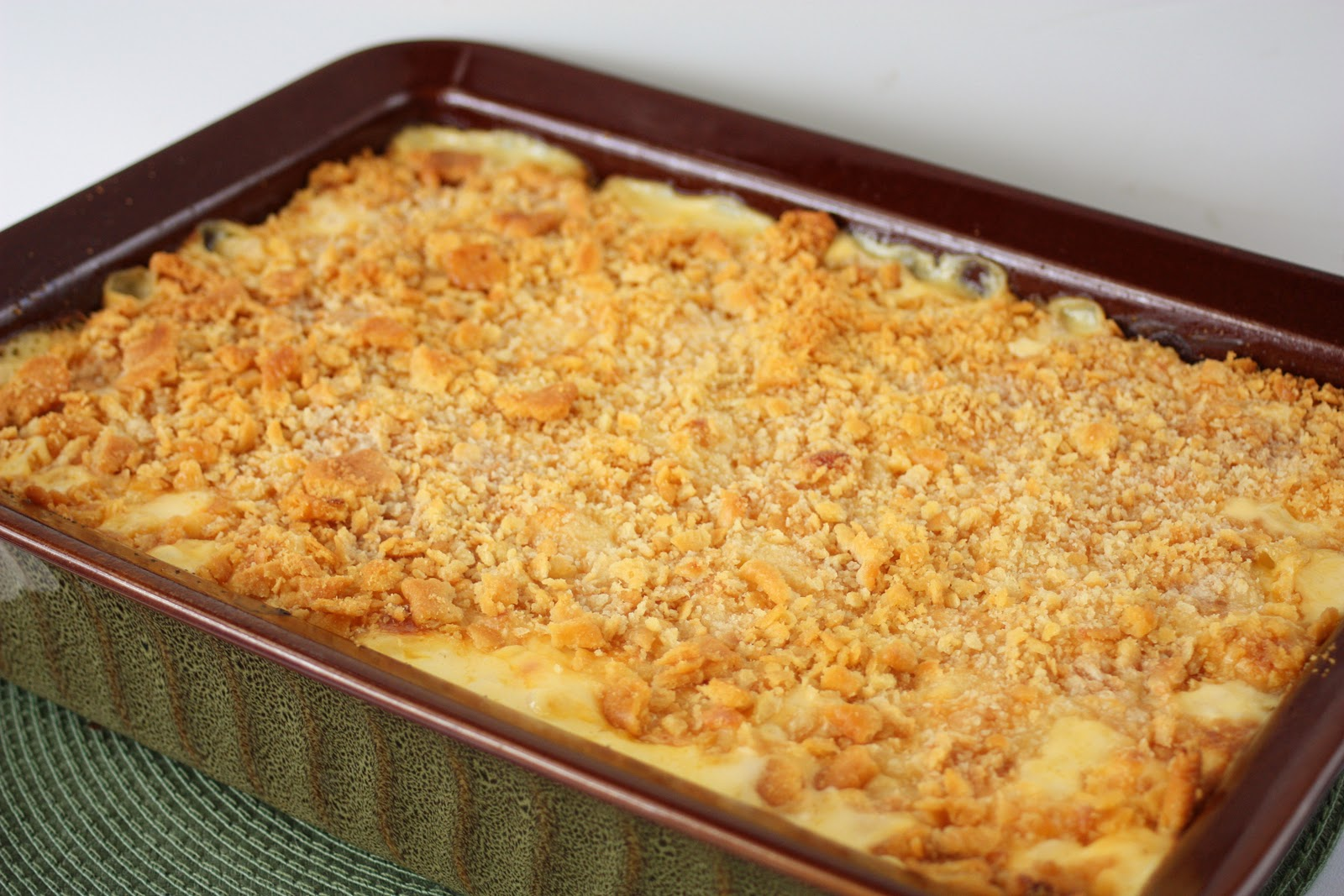 Just A Spoonful Of Homemade Macaroni And Cheese