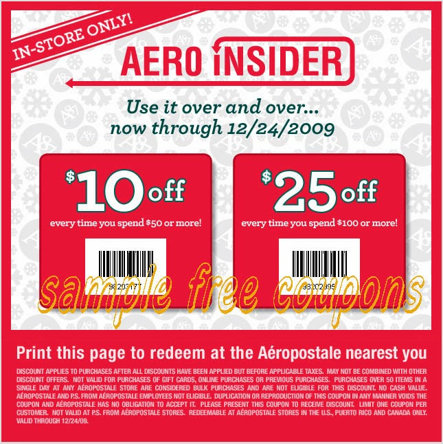 Aeropostale Social Media: Facebook; tumblr; Twitter; Instagram; Pinterest; Google+; YouTube; Aeropostale Tips & Tricks: Aeropostale almost always has a coupon you can use on your order. They also offer printable coupons for you to use in your local Aeropostale store. You can usually combine a free shipping offer with a percent off coupon code/5(9).