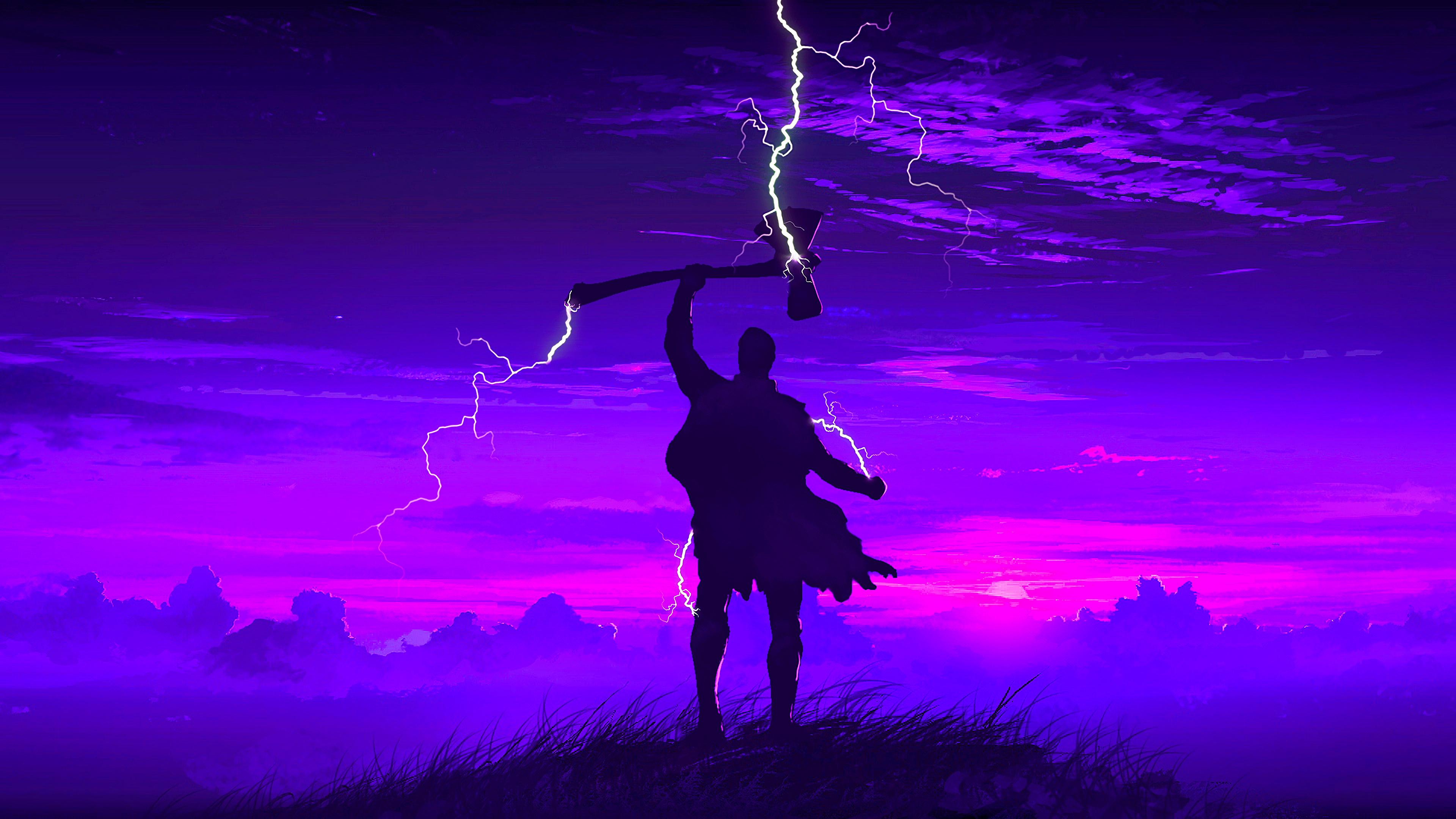 Avengers Endgame Thor Stormbreaker Minimalist 4k Wallpaper 58