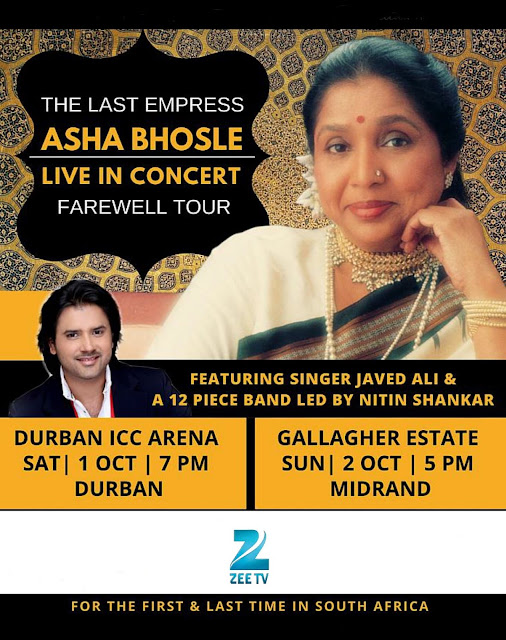 @ZeeTVAfrica Brings The Last Empress - Asha Bhosle in her Farewell Tour
