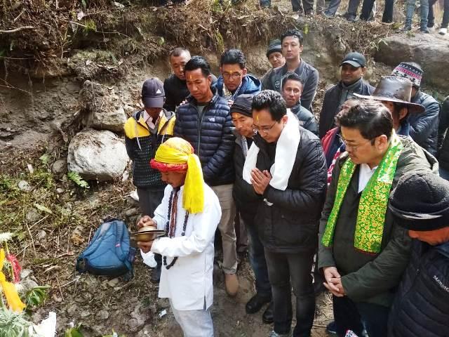 GNLF Chief Mann Ghisingh celebrate Maghe or Makar Sakranti