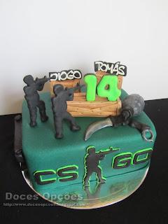 Bolo de aniversário Counter-Strike
