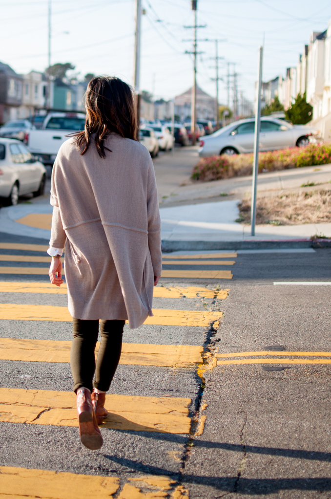 lou and grey cardigan loeffler randall felix booties sf style