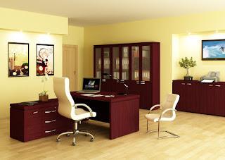 Цветовая гамма офисной мебели для кабинета