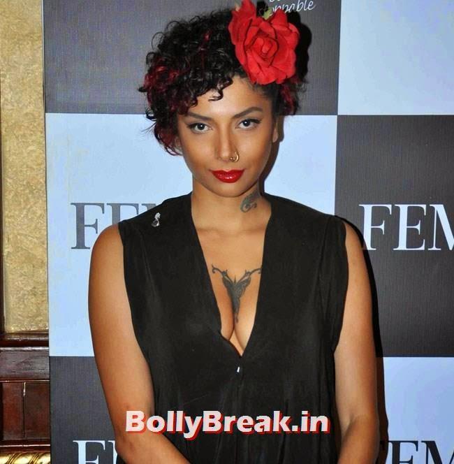 Diandra Soares, Huma Qureshi Pics in Red Top, White Skirt for Femina Magazine Launch